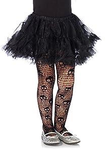 Leg Avenue- Niñas, Color negro, Large (134-140 cm de altura) (491503001)