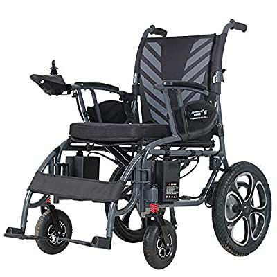 RDJM Folding Portable Travel Powerchair - Electric Wheelchair Mobility Aid 6mph