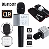 #6: Zagmagat 2017 Q9 Portable Multi-function Wireless / Bluetooth Karaoke Microphone . Handheld Condenser Microphone with Bluetooth Speaker for iPhone iPad iPod and All Smartphone , Laptops & Computers (multi color)
