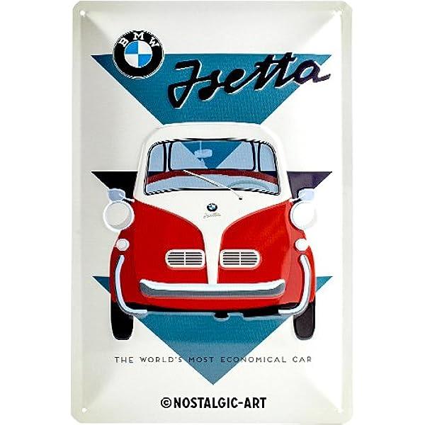 Nostalgic Art Bmw Isetta Geschenk Idee Für Auto Zubehör Fans Blechschild Aus Metall Amazon De