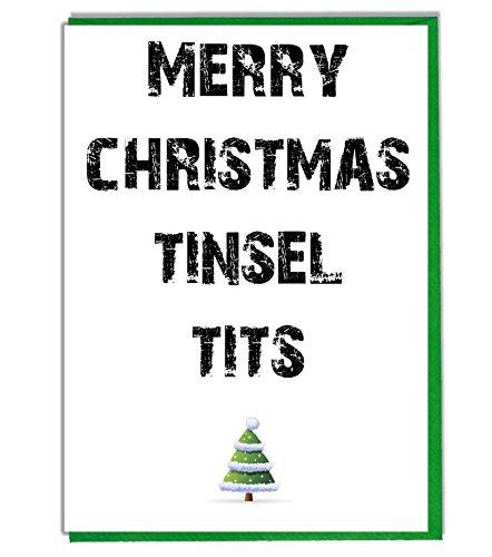 Günstig Weihnachtskarte, englischer Text \