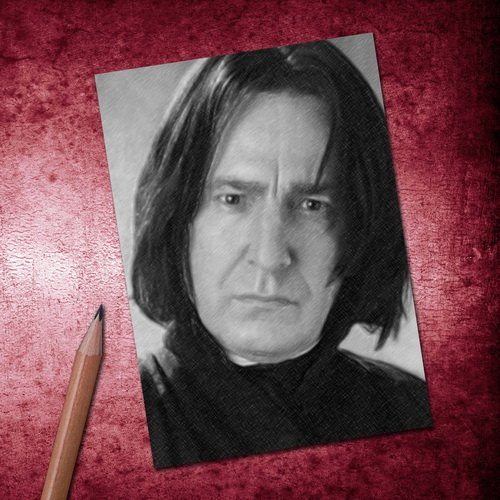 Seasons ALAN RICKMAN - ACEO Sketch Card (Signed by the Artist) #js001