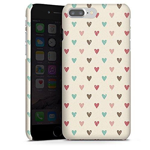 Apple iPhone X Silikon Hülle Case Schutzhülle Herz Retro Muster Liebe Premium Case glänzend