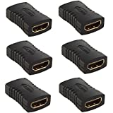 HDMI Female To HDMI Female Coupler Connector Pack 6pcs Adapter Extender F/F High Speed