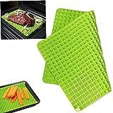 1Pc Antihaft Silikon Gesundes Kochen Backmatte für Backen Pfannen & Rolling grün