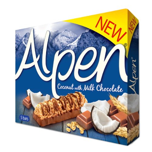 Alpen Coconut & Chocolate 5 Bars, 145g
