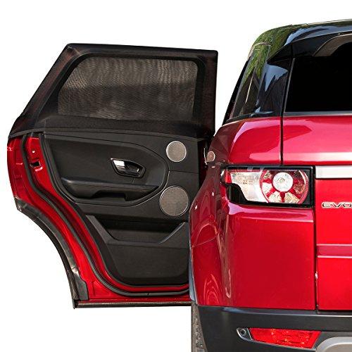 2ME Sonnenschutz Auto für Kinder Baby, Universelle Sonnenblenden für Deutsche Autos Seitenfenster mit UV Schutz - Max. to 100x54cm, 2 Stück