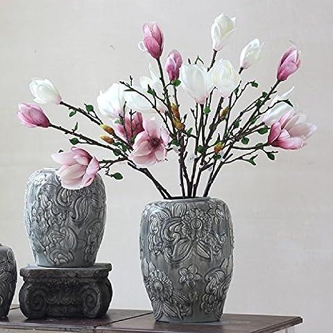 K&C Mangnolia Artificial Silk Flowers Wedding Floral