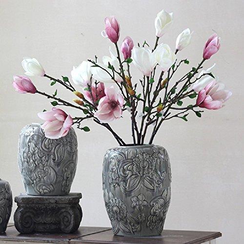 K&C Decorazione floreale Mangnolia fiori artificiali decorazione