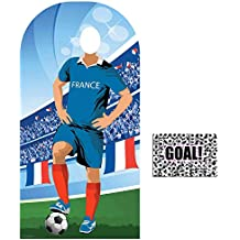 BundleZ-4-FanZ by Starstills Fan Pack - World Cup Football 2018 France Stand-In Lifesize Adult Cardboard Cutout with 20cm x 25cm Star Photo