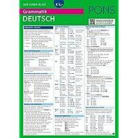 PONS Grammatik auf einen Blick Deutsch: Alle wichtigen grammatischen Themen auf einen Blick (PONS Auf einen Blick)