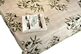 ExclusivoCIR Tischdecken Oliven beige schmutzabweisend Farben im Frühjahr Dekoration Haus 100 x 140