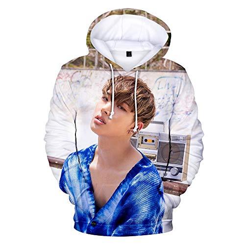 Kapuzenpullover,Unisex 3D Gedruckte Song Und Dance Kombination Thema Jugend Kapuzen Sweatshirt Hoodie Lose Beiläufige Kapuzen Paar Shirt, Ateez, M