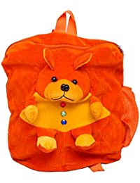 Pratham Enterprises Orange Bear Cute Teddy Soft Toy School Bag For Kids(Orange)