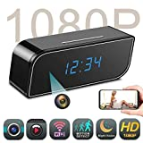 Mini Spy Camera WiFi, Night Vision 1080P Hidden Camera, Wireless IP Spy Cam Clock,Video Recorder Surveillance Camera, Nanny Cam with Motion Detection Loop Recording for iPhone/Android Phone