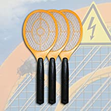 3 x Elektrisch Gelb Fliegenklatsche Insektenvernichter Fliegenschläger top