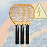 3 x Elektrisch Gelb Fliegenklatsche Insektenvernichter Fliegenschläger