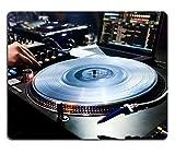 Jun XT Naturkautschuk Gaming Mousepads DJ-Mixe The Track in Nachtclub bei Party Vinyl Player Vordergrund Bild-ID 27829319