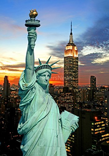 Stickersnews - Stickers autocollant ou Affiche poster New York Statue De La Liberté CV_00020 Stickers/Affiche - Stickers autocollant, Dimensions - 29,7x42 cm (A3)