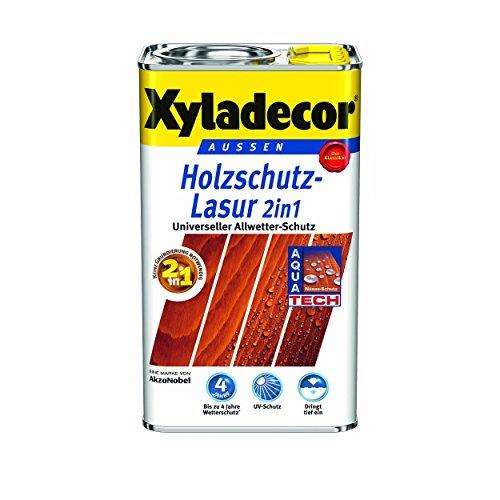 Xyladecor Holzschutzlasur 2in1 Aussen, 5 Liter, Farbton Nussbaum