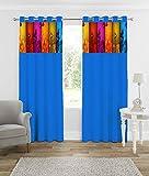 Reliable Trends Floral Digital Patch Print Velvet Door Curtains (2) Amazon Rs. 970.00