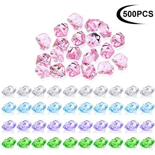 1/2 Zoll Rock (Zonon 500 Stücke Acryl Ice Rocks Kristalle Schatz Edelsteine für Tabelle Scatter, Vase Füllstoffe, 0,5 Zoll Gefälschte Diamanten Eiswürfel Edelsteine für Heimtextilien, Hochzeit Display, Aquarium)