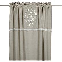 Gardinenschal Vorhang U0027Emmyu0027 2er Set 120 X 240 Cm (BxH) Bestickt Mit