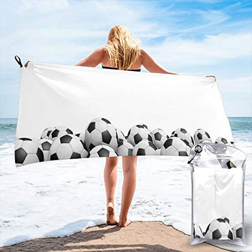 New Shorts Illustration of Soccer Ball Championship Tournament Stadium Exercise Bath Swimming Pool Yoga Pilates Picnic Blanket Beach Towels 27.5