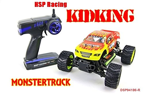 Monster-Truck-Kid-King-116-RC-Car-HSP-94186-NCC-In-Yellow-Red