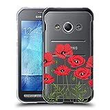 Head Case Designs Rote Mohnblumen Rosen Und Wildblumen Soft Gel Hülle für Samsung Galaxy Xcover 3