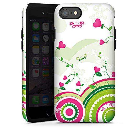 Apple iPhone X Silikon Hülle Case Schutzhülle Herz Bunt herz Tough Case glänzend