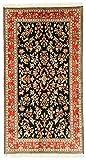 Nain Trading Kaschmir Reine Seide 168x91 Orientteppich Teppich Läufer Beige/Dunkelbraun Handgeknüpft Indien