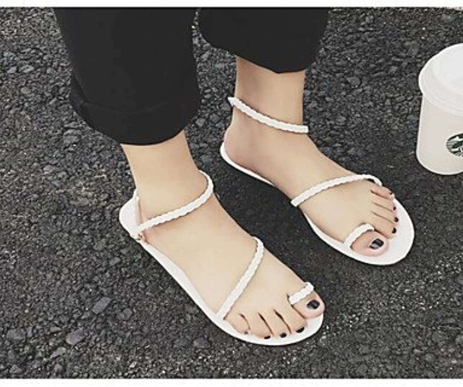 f20d51e6e476 RTRY Women S Sandals Comfort Summer Pu Casual Silver Black Black Black  White Under 1In Parent B075MBPHDG