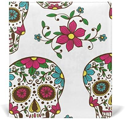 ALAZA Floral Skull réutilisable réutilisable réutilisable en cuir Couverture de livre 9 x 11 pouces pour moyen à la taille Jumbo Relié Livres scolaires Femmeuels scolaires B078XGZ3W5 | Avec Une Réputation De Longue Date  cb6205