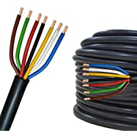 Cable eléctrico multipolar 2-13 hilos para automovìl remolque 5m, 10m, 20m o 50m selección: 20m metros, 7 hilos 7 x 1.0 mm² cable redondo