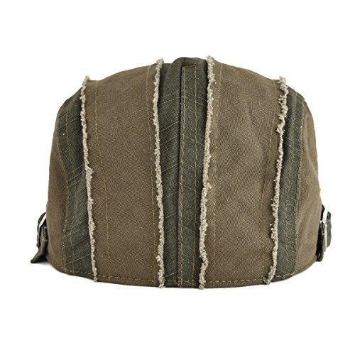 ee504bf8c21 VOBOOM 100% Cotton Distressed IVY Caps Newsboy Caps Cabbie Hat Gatsby Hat  (Army Green)(Size  Adjustalbe size  57-60cm( 7 1 8-7 1 2)) ...