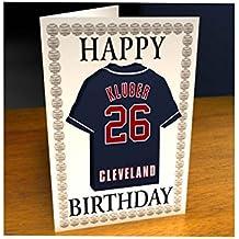 Ligue majeure de baseball–American Ligue MLB Jersey aimant pour réfrigérateur Cartes d'anniversaire–N'importe Quel Nom, n'importe quel Nombre, n'importe quelle équipe–Sans personnalisation. Par myshirt123