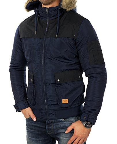 JACK & JONES -  Giacca - Piumino  - Uomo Blu (Navy Blazer) XXL