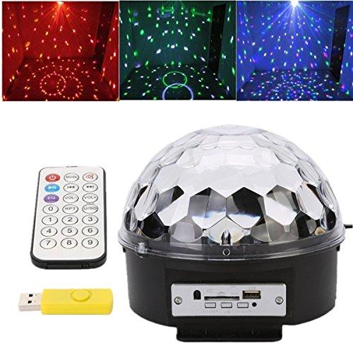 Discoteca DJ Estadio Iluminación Digital RGB LED luz de efecto de bola de cristal [Clase de eficiencia energética A],Enchufe