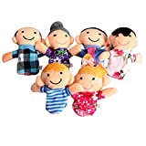 #1: Kid'S Play Company Just Model Family Finger Puppets - 6Pcs