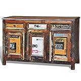 vidaXL Armadietto a credenza vintage legno riciclato 3 cassetti sportelli immagine