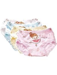 FAIRYRAIN 4 Packung Baby Kleinkind Mädchen Ballett Prinzessin Pantys Hipster Shorts Spitze Baumwollunterhosen Unterwäsche