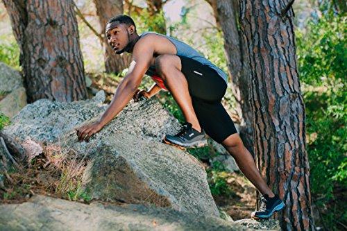 GUGGEN Mountain Herren Trekkingschuhe Wanderschuhe Walkingschuhe Outdoorschuhe Verbesserte Wasserdichte Version T001v2017 mit Membran und Softshell Schwarz-Orange