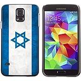 Graphic4You Bandera de Israel Israel Vintage Grunge Diseño Carcasa Funda Rigida para Samsung Galaxy S5