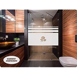 669 / 65cm hoch Sichtschutz Folie Fenster Bad Dusche Sichtschutzfolie Fensterfolie Glasdekor Sichtschutzfolie Window blickdicht wasserfest selbstklebende Folie