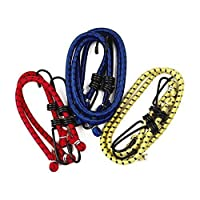 Assorted Elastic Bungee Cords - Feature Metal Hooks For Secure Tie Downs - Pack of 6 Cords In Assorted Size 16