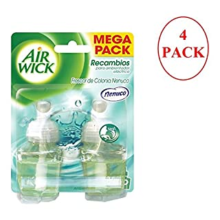 Airwick Nenuco Air Freshener Electric Refill 2x 19ml. Pack of 4