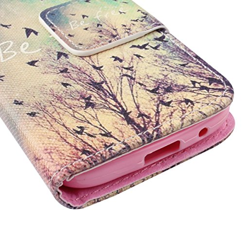 Coque pour Samsung Galaxy S4 Mini, ISAKEN Élégant Style PU Cuir Flip Magnétique Portefeuille Etui Housse de Protection Coque Étui Case Cover avec Stand Support pour Samsung Galaxy S4 Mini I9190 I9195  #12