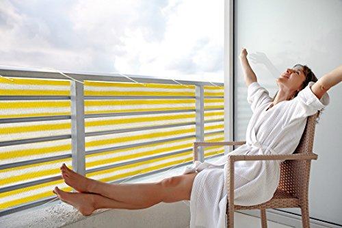 Floracord Balkonumrandung HDPE 0,90 x 5 m, gelb/weiß / mehrfarbig