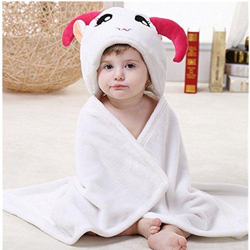 EVTECH (TM) Frühling Herbst Kid-Baby-Jungen Bademantel Handtuch-Umhang Ultra-weiches Flanell Babydecke geeignet für 0-2 Jahre alt (Ultra Pigment)